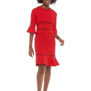 Beautiful red dress with black trim size 8